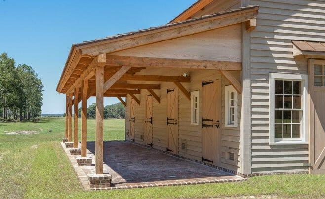 Timber frame horse barn