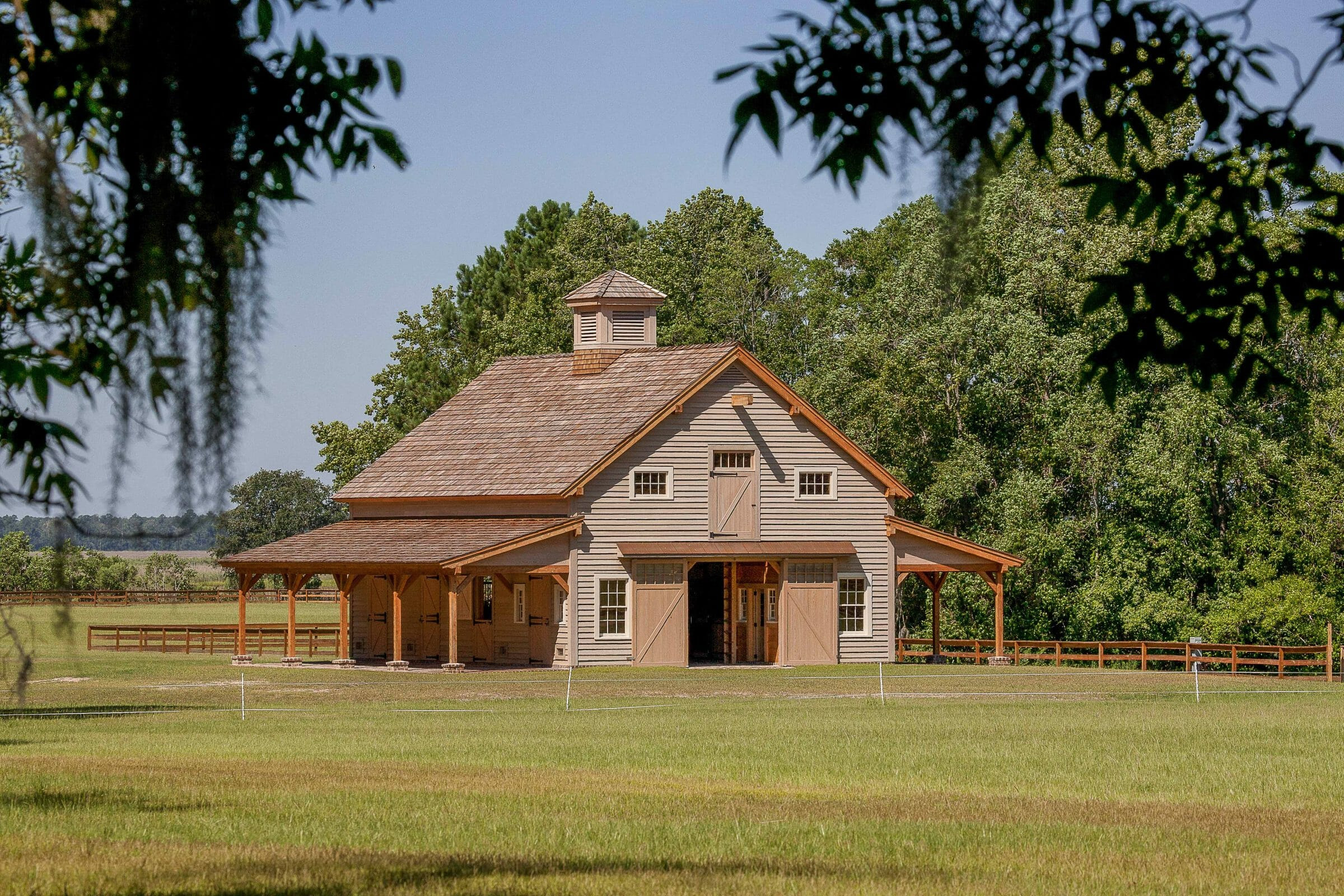 Carolina Horse Barn Handcrafted Timber Stable Vermont Timber Works