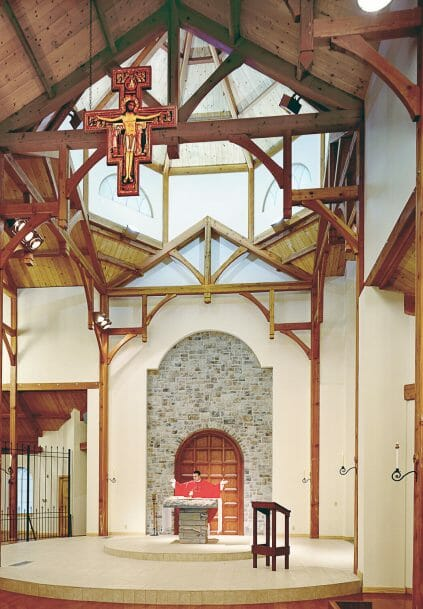 Trusses with curved braces