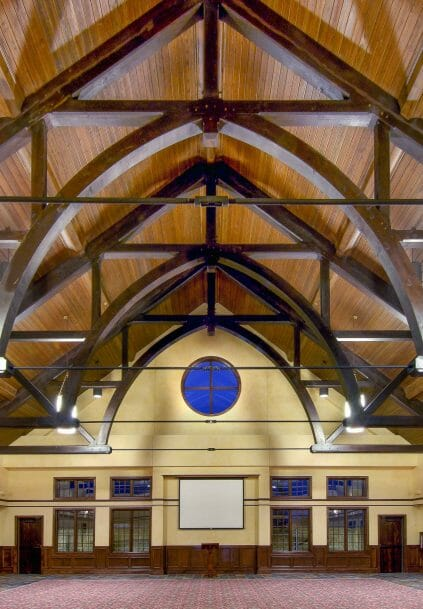 Arched Church Truss with Steel Tie Rod