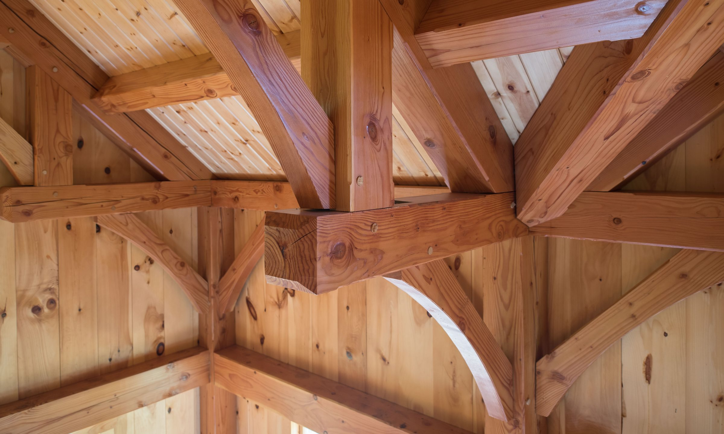 Timber frame detail view