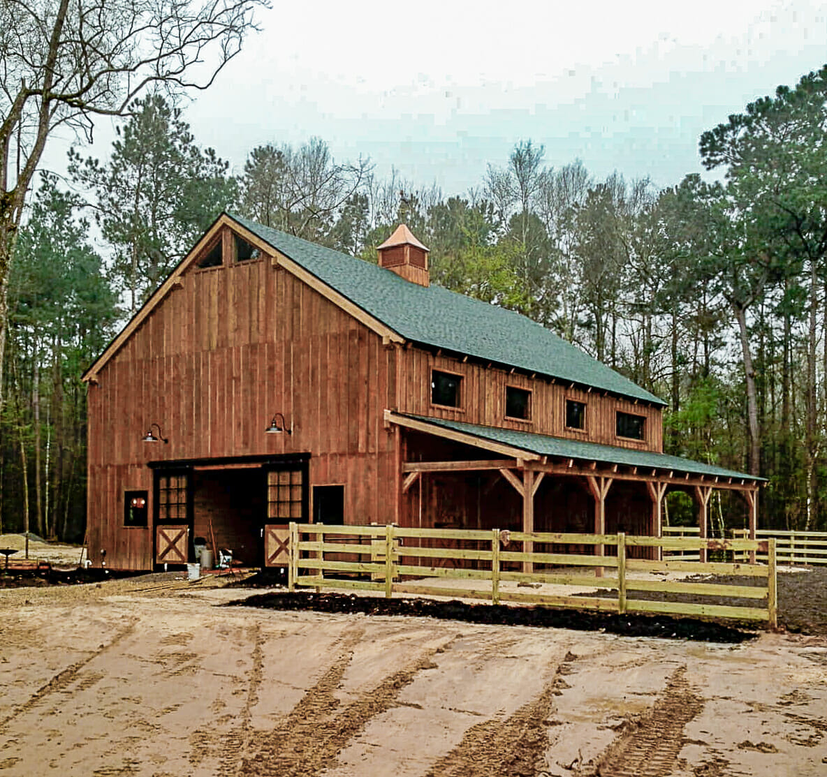 Rustic Country Horse Barn