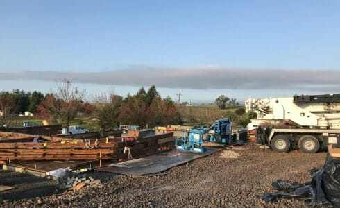 Building Site for the Napa California Barn Recreation Center on the Paul Estate
