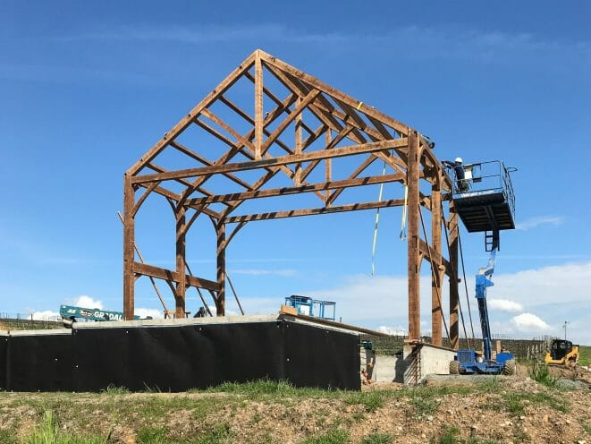 Napa California Barn Raising for Recreation Center for Children on the Paul Estate