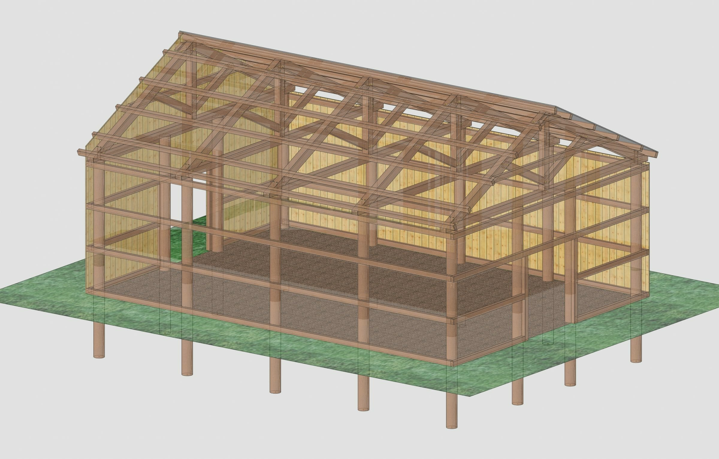 3D Model of a Pole Barn