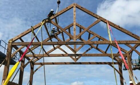 Raising the Napa California Barn on the Paul Estate