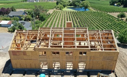 Paul Barn Napa California Barn and Recreation Center Construction Progress