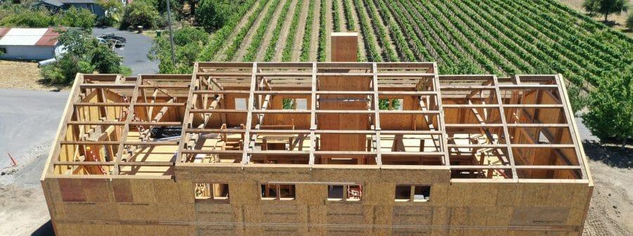 Paul Barn Napa California Barn and Recreation Center Construction Progress