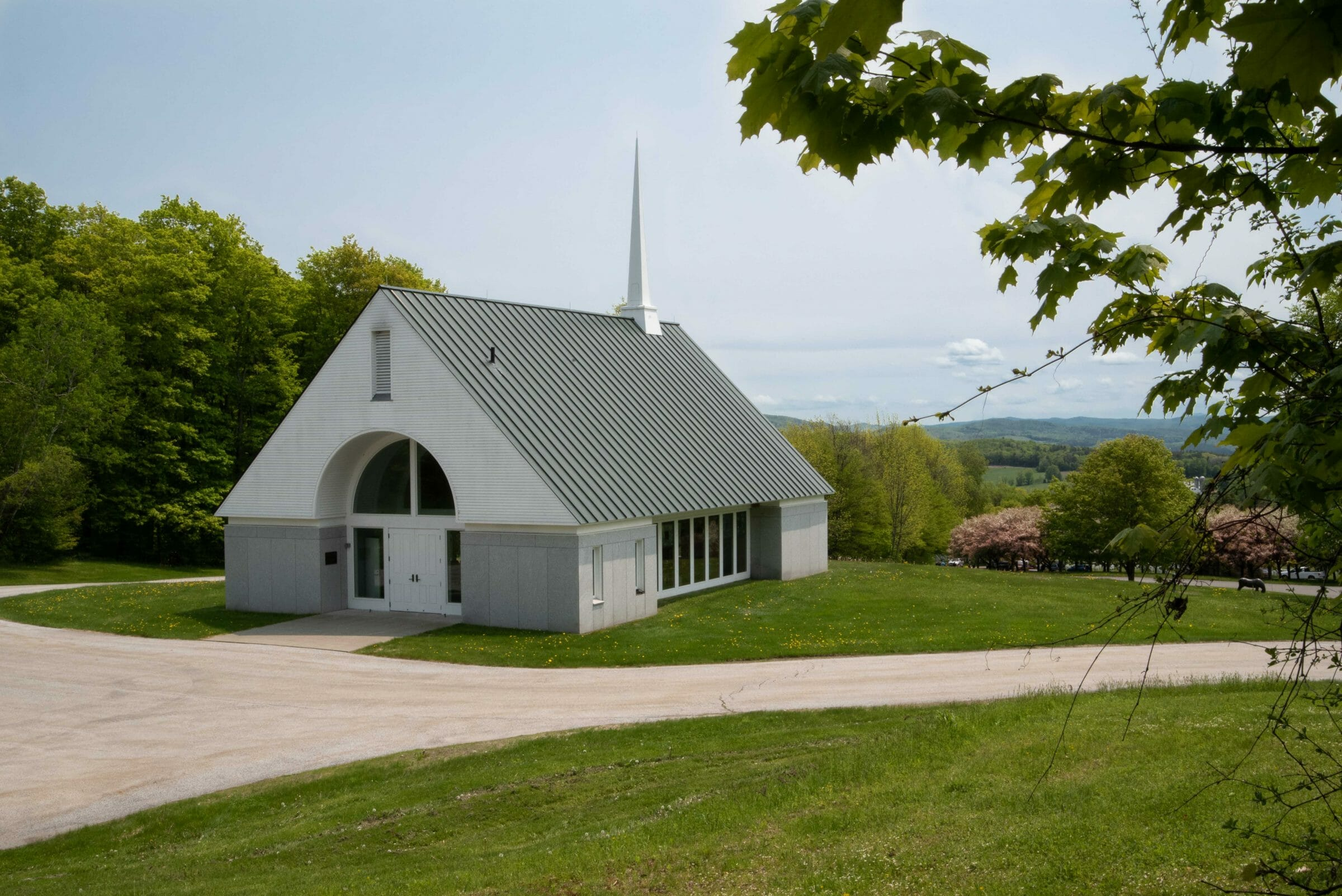 Exterior of the Vermont Veterans Memorial Chapel