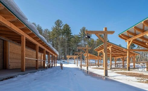 Camp Foster is a youth camp operated by the Boys and Girls Club of Manchester, NH and features a family hall, pavilions, and a pool house.