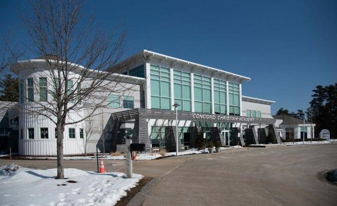 The Exterior of the Concord Christian Academy (Previously the Centennial Senior Center) in Concord, NH