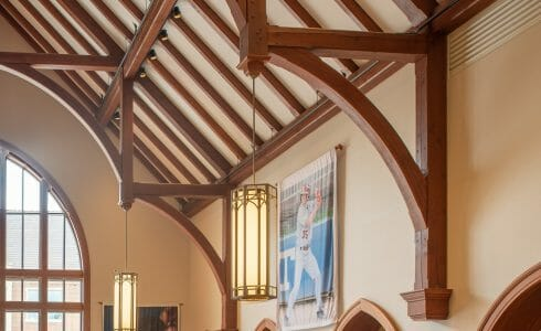 Heavy Timber Trusses in the Grove City College Student Center in PA