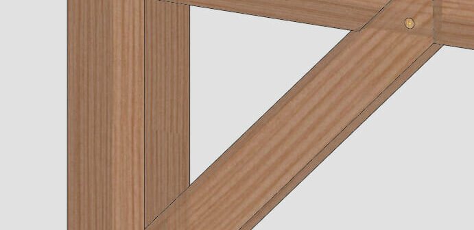 Can a Mortise & Tenon Brace Be Installed After the Post & Beam Have Been Assembled?
